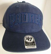 82e548a5 Padres San Diego Hat Cap Denim Wash Cotton 47 BRAND Strapback MLB