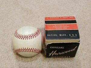 Antique Vintage 1950's Harwood Baseball In Box