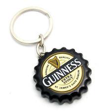 Guinness Black Crown Cap Label Keyring Bottle Opener 2084b