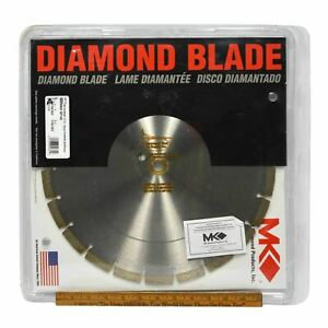 """New in Open Package MKD DIAMOND BLADE No. GP14E 14""""x1 - 20mm MK PRODUCTS c.2002"""