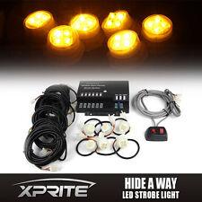 Xprite Hide-A-Way 6 LED 120W Bulbs Emergency Hazard Warning Strobe Lights Yellow
