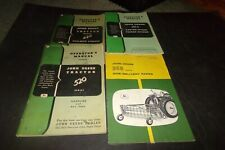 Lot 5 Vintage John Deere Manual Tractors Delivery Rakes Caster Wheel Power Mower