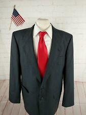 Custom Made Men's Gray Striped Wool Blazer Sport Coat Suit Jacket 44R