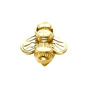 Bee Slide Bracelet Charm 14K or 10K Yellow or White Gold Quality