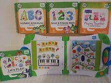 LeapFrog LeapStart Learning System with 4 Books! Used level 1 preschool Pepp pig