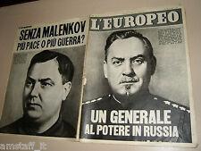 EUROPEO=1955/7=REMIGLIO PAONE=MARCELLA MARIANI ENNIO GIROLAMI=GIORGIO DE CHIRICO