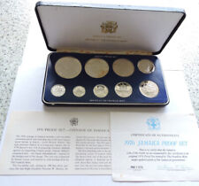 More details for 1976 jamaica proof set silver $10 and $5 cased with coa and outer
