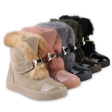 Damen Stiefeletten Plateau Boots Warm Gefüttert Winter 818741 Schuhe
