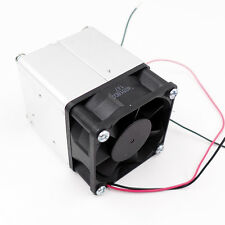 24V DC Fan Cooling Set with  Metal Grill 50mm Aluminum Heat Sink and Thermostat
