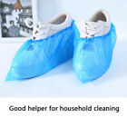New 100Pcs Disposable Plastic Shoe Covers PE Shoe Cover Waterproof Shoe Cover US