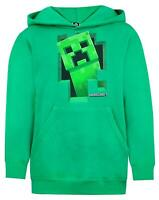 Minecraft Green Creeper Boys Hoodie Kids Long Sleeve Hooded Sweater