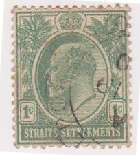 (MS-8) 1906 Straits settlements 1c green Edward VII (A)