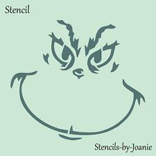 Joanie Stencil Grinch Face Many Sizes U Choose Christmas DIY Craft Holiday Signs