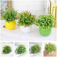 Artificial Plant Plastic Fake Milan Flower Grass Office Home Party   Decor! Mini