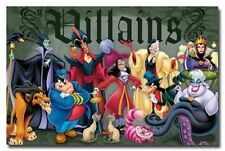 DISNEY VILLAINS POSTER 34X22 NEW FAST SHIPPING