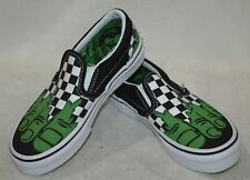 78b64e9391c6 Vans Boy s Classic Marvel Hulk Checkerboard Slip On Skate Shoes-Asst Sizes  NWB