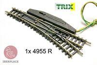 N escala 1:160 via electrico desvio turnout Trix Minitrix 14955 4955 R 112,6mm