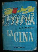 LIBRO ANTICO-GEOGRAFIA-LA CINA-ILLUSTRATO-GARZANTI-1960