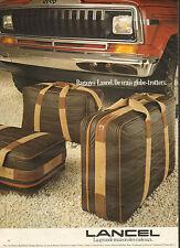 Publicité 1981 LANCEL bagage valise sac à main collection mode