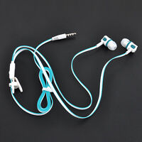 Bass Stereo Earphones Headphones 3.5mm In-Ear Earbuds Noodle Headset With Mic