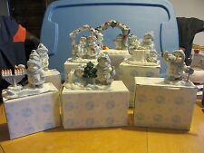 New 7 Encore Snow Buddies - Figurines - Holiday - Chanukah - Christmas - all 7