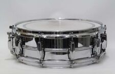 "USED LUDWIG LM-400 Metal Snare Drum 14"" x 5"" Free ship Musical Instruments"