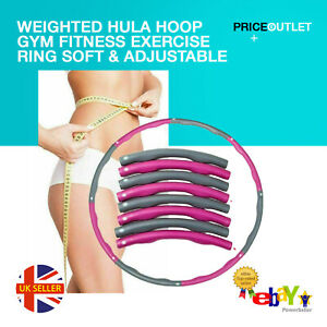 Weighted Hula Hoop Gym Fitness Exercise Ring Soft & Adjustable Adult and Kids
