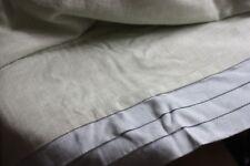 PLEATED BORDER linen BLUE GREEN BESPOKE ROMAN BLIND LAURA ASHLEY 120cm W 206cm L