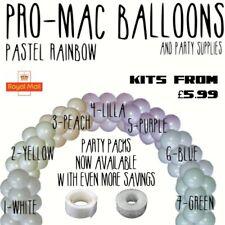 Party Balloons Arch Kits Pastel Latex Birthday Wedding glue dots 5m chain