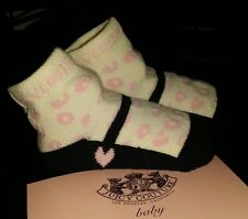 JUICY COUTURE BABY INFANT GIRL'S 1 PAIR  ANIMAL PINK PRINT SOCK SZ 0-6M