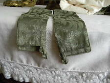 Olive Green Drapes and Valence