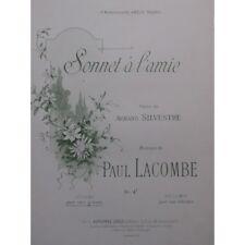 LACOMBE Paul Sonnet à l'amie Chant Piano 1837 partition sheet music score