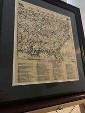 Chronological Map of Civil War Battlefields in an Elegant Frame