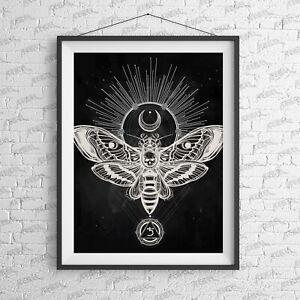 Moth Art Print-Tattoo-Alternative-Home-Rebels-Fashion-Moth