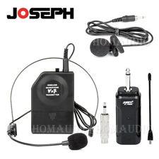 Vhf Wireless Headset Mic Lavalier Tie Clip On Headworn Lapel Microphone System