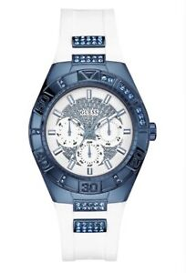 AUTHENTIC GUESS LADIES' LUNA WATCH WHITE W0653L2 RRP:449 $Brand New *Dent