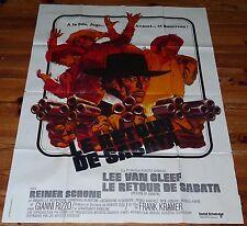 AFFICHE CINEMA LE RETOUR DE SABATA 1971 120 X 160 WESTERN LEE VAN CLEEF F KRAMER