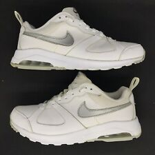 Women's Size 9 NIKE Air Max Shoes White Silver Gray *CLEAN*