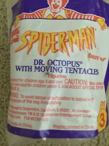 1994 SPIDER-MAN DR. OCTOPUS #3 MARVEL McDonald's Happy Meal Toy Sealed