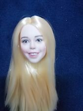 GLF 1:6 Scale Long Hair Head Fit 12inch Girl Body  Figures Happy Little Girl