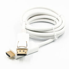 6FT 1.8 meter  Display Port DisplayPort DP to HDMI Cable Adapter White Hot Sale