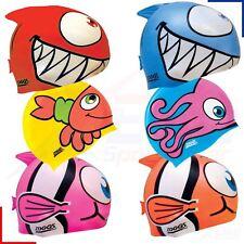 Zoggs Childrens Silicone Character Swimming Cap Junior Girls Boys Swim Hat