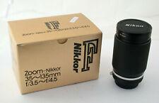 NIKON Ais MF Nikkor 35-135 35-135mm F3,5-4,5 OVP boxed adapt. EOS A7 /19K