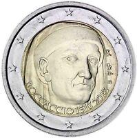 Italien 2 Euro Giovanni Boccaccio 2013 Gedenkmünze prägefrisch