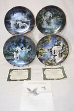 "Set of 4 Vintage Bradford Exchange Fairyland 8"" Collector's Plates 1, 2, 4, & 7"