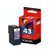 ORIGINAL LEXMARK 43 43XL COLOUR X4850 X9350 Z1520 2 YEARS GUARANTEE FAST POSTAGE