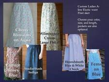 A-Line Long Floral Regular Size Skirts for Women