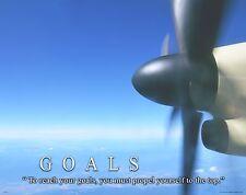 Aviation Airplane Motivational Poster Print Parts Air Force Pilot Wall Art Decor