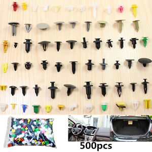 Colorful 500x Car Retainers Assortment Auto Fender Bumper Dash Rivet Push Pins