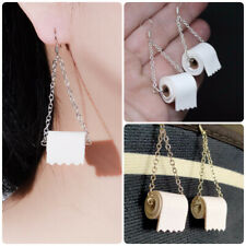 Funny Roll Toilet Paper 925 Silver Drop Earrings for Women Jewelry A Pair/set